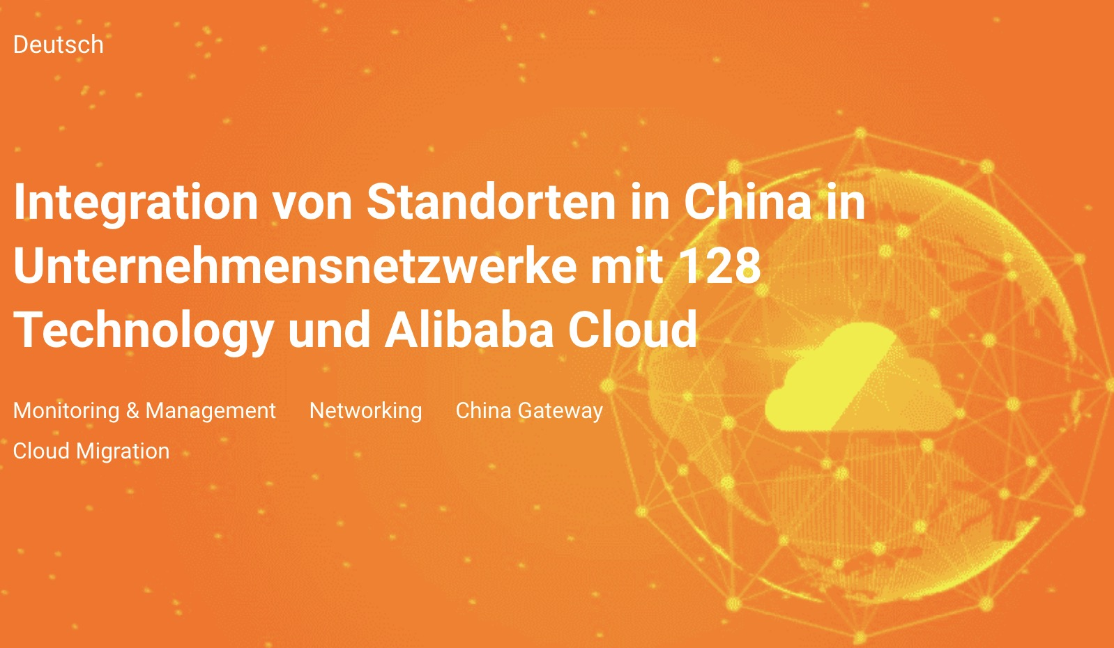 128 Technology - AliBaba Cloud - Webinar